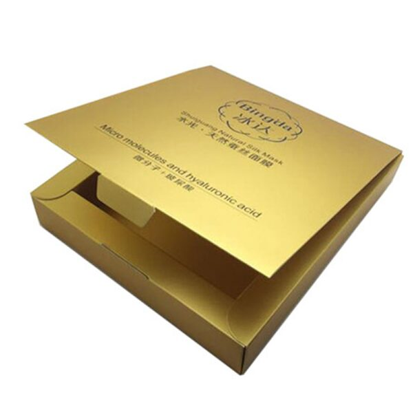 Cosmetic Boxes Gold Foil min
