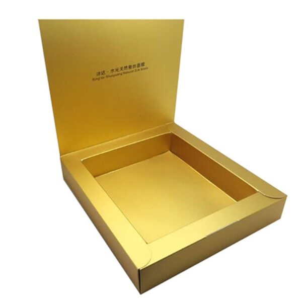 Custom Cosmetic Box Gold Foil min