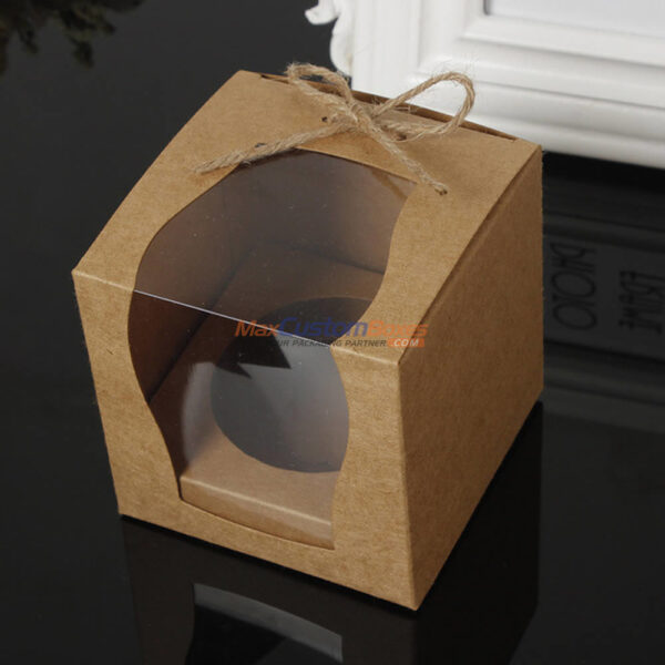 Kraft Gift Boxes Window