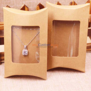 Kraft Pillow Boxes With Window
